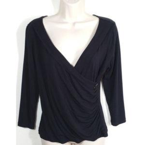 CAbi Women Style #553 V-neck Faux Wrap Top 1165E1